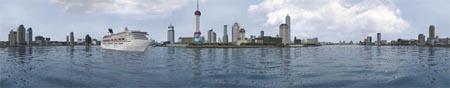 Шанхай, излучина реки Хуангпу