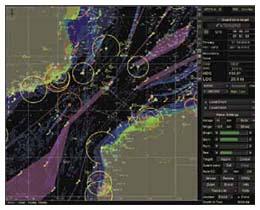 Наложение радарного изображения